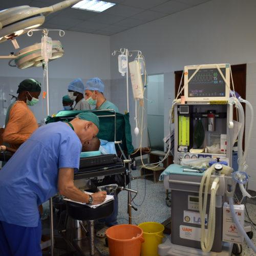 Première opération en salle I renovée