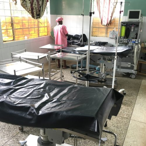 Operating table in Kilembe