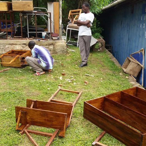 Fabrication des étagères