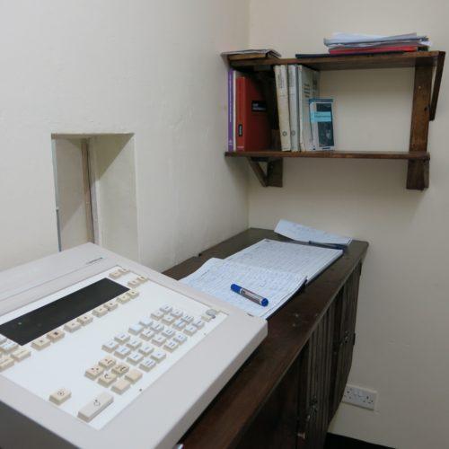 Place de travail nette à la console de radiologie