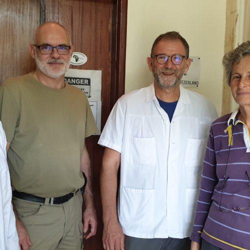L'équipe de radiologie se retrouve avec Dominique Schmid et toujours Moses